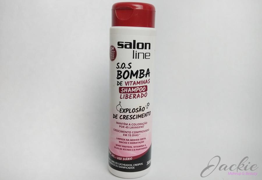 Jackie siqueira make upshampoo sos bomba vitaminas for Salon line bomba