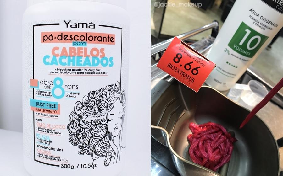 Yamá Pó Descolorante para cabelos cacheados